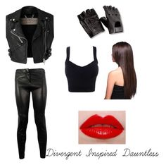 """Divergent Inspired: Dauntless"" by luna4life ❤ liked on Polyvore featuring Burberry, A.L.C. and Lime Crime"