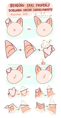 Furry Drawing Tips Art Drawings Sketches, Cute Drawings, Animal Drawings, Drawing Techniques, Drawing Tips, Cat Drawing Tutorial, Anime Drawing Tutorials, Drawing Stuff, Drawing Ideas
