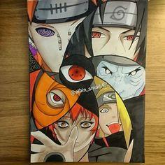 Faltou a Konan! Anime Naruto, Naruto Fan Art, Naruto Shippuden Sasuke, Naruto Kakashi, Manga Anime, Boruto, Naruto Sketch, Naruto Drawings, Anime Drawings Sketches