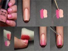 Gradient nails tutorial :D <3