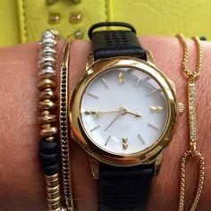 Introducing Stella & Dot's Icon Watch - New for Holiday 2015! (Shown in Black.)