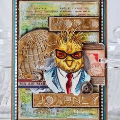 Over on my blog I'm sharing another  @tim_holtz Hipster who is off on his world travels and most definitely #hipforsummer ~ Hope you'll pop over to check out the details... #tim_holtz #sizzix #stampersanonymous #hipsters