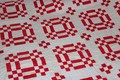 A personal favorite from my Etsy shop https://www.etsy.com/listing/256901876/red-and-white-handmade-machine-quilted
