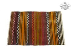 Tribal Semi Antique Striped Embroidered by AnatoliaCollection