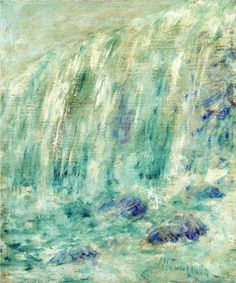 """""""Niagara Falls,"""" John Henry Twachtman, oil on canvas, 17.38 x 14.38"""", private collection."""