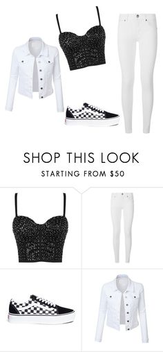 """""""White and Black"""" by kacis-kacis on Polyvore featuring Burberry, Vans and LE3NO"""