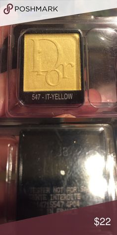 New BEAUTIFUL Dior Eyeshadow in Yellow New BEAUTIFUL Dior Eyeshadow in Yellow Dior Makeup Eyeshadow