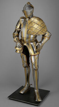 The fabulous '1549' garniture of the Emperor Maximilian II, from which the tourney gauntlet escaped, at some point in the 19th century, eventually also to be acquired by Sir Richard Wallace.