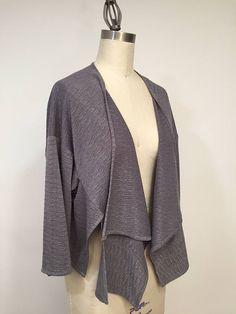 Navy Jacket, Navy Knit Fabric Jacket, Navy With Metalic Strip ...