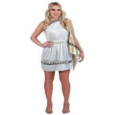 Tu mejor disfraz de romana adulto para mujer.Este disfraz es perfecto para trasladarte a la antigua Roma o para convertirte en una auténtica Diosa del Olimpo Griego en Fiestas de Disfraces Temáticas o Carnaval.