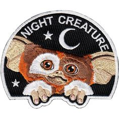 Night Creature is a Gremlins inspired 9 cm embroidered patch with merrowed edge and iron-on backing. Made in Spain. Follow the iron on patch instru...
