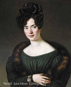 Jean Joseph Vaudechamp (French, 1790-1864, Portrait of a woman, 1828