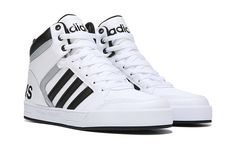 ADIDAS NEO RALEIGH 9TIS HIGH TOP SNEAKER PRO IN WHITE SILVER BLACK Cool Mens ccbf22c6c