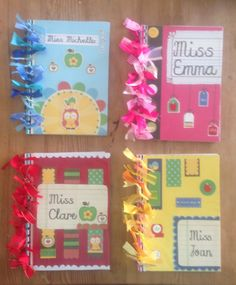 Back to school gifts for my Pre-Sch staff.  I recovered their new academic diaries and decorated with coordinated ribbon