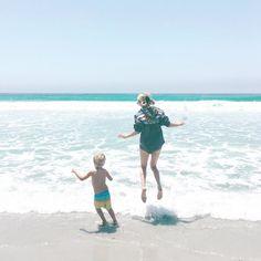 Jordan Reid on the beach