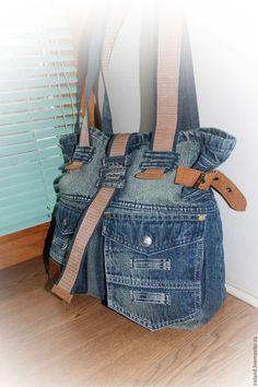 Женские сумки ручной работы. Ярмарка Мастеров - ручная работа. Купить Джинсовая…