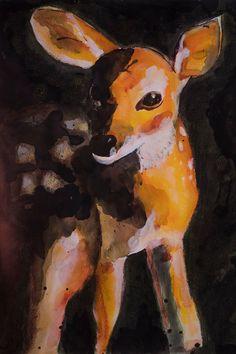 Dit item is niet beschikbaar Deer Wall Art, Moose Art, Art And Illustration, Animal Paintings, Wildlife, Poster, Watercolor, Fine Art, Artist