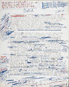 "Manuscript for ""Crash"" by J.G. Ballard"