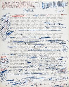 "Manuscript for ""Crash"" by J.G. Ballard"