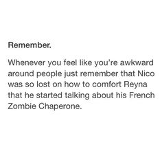 Wow Nico why of all things it just had to be the zombie