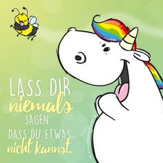 Bildergebnis für pummeleinhorn Real Unicorn, Unicorn Birthday Parties, Just Smile, Fantasy World, Rock Art, My Little Pony, Nerdy, Cartoon, Humor
