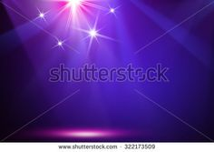 Purple & Blue stage background - stock photo