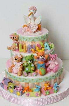 Teddy Bear Baby Shower Cake                                                                                                                                                                                 More