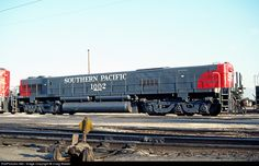 Southern Pacific slug 1002 was constructed from SP 7811, an Alco C630. It worked with SD38-2s in West Colton Yard in Bloomington, California, and is seen here on August 29, 1981.