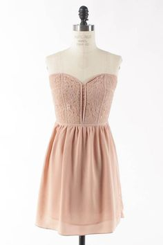 Blush dress. Maybe for a skinny Minnie with a smaller chest.