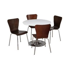 Hillsboro Dining Set White/Espresso 5 Piece ($460) ❤ liked on Polyvore featuring home, furniture, black expresso, 5 piece table set, 5 pc dining table set, 5 piece dining sets, black dining set and bentwood furniture