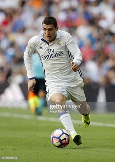Mateo Kovacic of Real Madrid in action during the La Liga match between Real Madrid CF and CA Osasuna at Estadio Santiago Bernabeu on September 10...