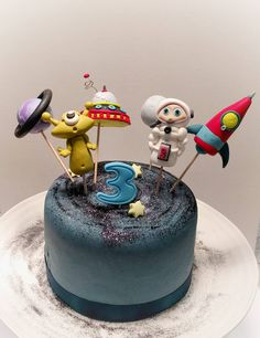 Space Cake Topper Set Alien Cake Topper Astronaut Topper