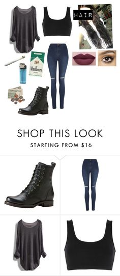 """Gallagher"" by gingerfruit ❤ liked on Polyvore featuring Frye, George, adidas Originals, Brinley Co, NYX and Charlotte Tilbury"