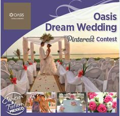 It's to win an and a 3 Night Stay at the Oasis Sens! Wedding Giveaways, Tulum Mexico, Romantic Destinations, Wedding Pinterest, Stay The Night, Destination Weddings, Cancun, Hotels And Resorts, Unique Weddings