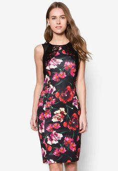 Buy Dorothy Perkins Black Floral Lace Pencil Dress | ZALORA Singapore