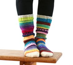 Socks. Great way to use up leftover yarn.