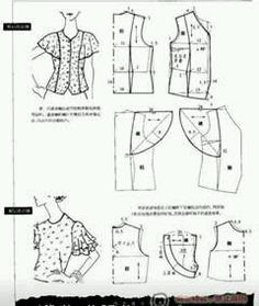 Amazing Sewing Patterns Clone Your Clothes Ideas. Enchanting Sewing Patterns Clone Your Clothes Ideas. Dress Sewing Patterns, Sewing Patterns Free, Clothing Patterns, Sewing Hacks, Sewing Tutorials, Sewing Projects, Blouse Pattern Free, Sleeve Pattern, Patron Vintage