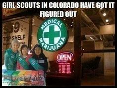 Meanwhile in Colorado...... cookie sales skyrocket!!