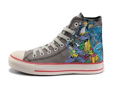 8dbc8c5199d5 Classic DC Heroes Batman Chuck Taylor All Star High Top Light Gray Print  Canvas Shoes. Fahima Saban · Converse obsessed!