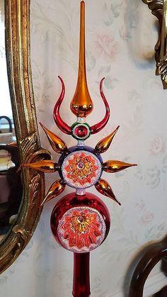 x-mas Vintage Christmas Tree Toppers, Home Decor, Decoration Home, Room Decor, Interior Design, Home Interiors, Interior Decorating