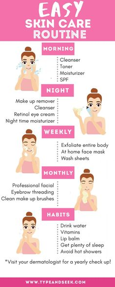 Easy Skin Care Routine That Works Wonders! – Type and Seek Easy Skin Care Routine That Works Wonders! – Type and Seek,Beauty Tips Easy Skin Care Routine That Works Wonders! Oily Skin Care, Healthy Skin Care, Face Skin Care, Skin Care Tips, Healthy Beauty, Dry Skin, Good Skin Tips, Sensitive Skin Care, Beauty Care