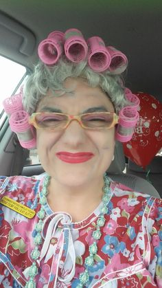 Old Lady actor from- Redding Balloons Ent. in Redding California.