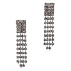 """Love this! Found it on Journey Accessories Next cocktail party, hit one out of the park with Cristina earrings. Show up in a fab frock, your winning charm and these dazzling drops.  - Hematite metal, CZ - 3"""" long - Post back for pierced ears Item # BBL20001038 $28"""