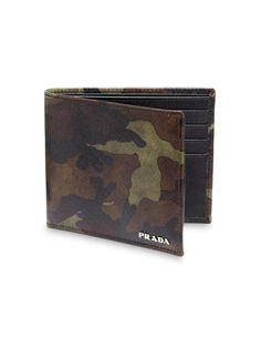Prada Saffiano Camouflage Billfold Wallet