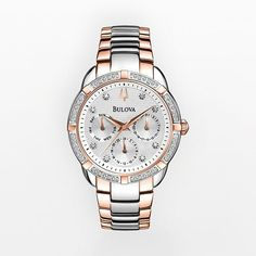 Bulova Watch - Women's Diamond Maribor Two Tone Stainless Steel - 98R177 #Kohls