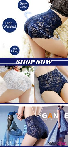 High Waisted Lace Cotton Crotch Tummy Shaping Butt Lifter Panty is fashionable and cheap, come to NewChic to see more trendy High Waisted Lace Cotton Crotch Tummy Shaping Butt Lifter Panty online. Women's Fashion Leggings, Pretty Lingerie, Lace, Nightgowns, Underwear, Amazon, Sexy, Style, Black Lingerie