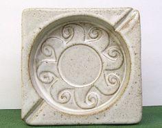 Vintage PUERTO RICO Ashtray – Isla Del Sol - Pottery – Earthenware – Artisan Made – Studio Art – Handmade – Heavy -