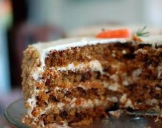 Goddelijke worteltaart (carrot cake) met mascarponecrème