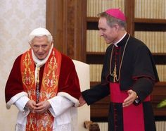 Pope Benedict and Georg Gänswein
