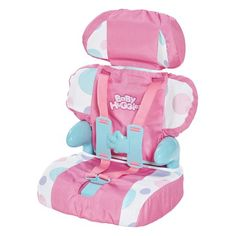Cadson Car Seat and Booster with Seatbelt for Dolls and Stuffed Animals - Bring Your Favorite Friend for a Ride, Pretend Play Toy, Plush Travel, Pink, 13 Inches Baby Doll Nursery, Baby Alive Dolls, Baby Doll Toys, Baby Doll Clothes, Baby Doll Car Seat, Baby Car Seats, Little Girl Toys, Toys For Girls, Kids Toys